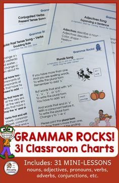 Grammar Song Charts that complement Jolly Grammar Grammar Practice, Teaching Grammar, Grammar Lessons, Simple Past Tense, Simple Present Tense, Phonics Programs, Teaching Programs, Classroom Charts, Classroom Resources
