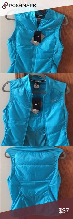 Nike zip up vest Lightweight Nike zip up best. Very nice blue color. Brand new!!!! Nike Jackets & Coats Vests