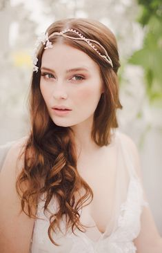 Jannie Baltzer 2014 collection, bridal headpiece, elegant and ethereal headpieces, nature inspired headpieces, wedding accessories.
