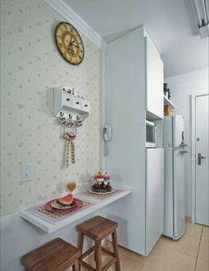 papel de parede de florzinha serve também para cozinhas. Decoração provençal e romantica.