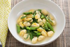 Spring Pea Gnocchi with Parmesan & Garlic Scape Sauce. Visit https://www.blueapron.com/ to receive the ingredients.