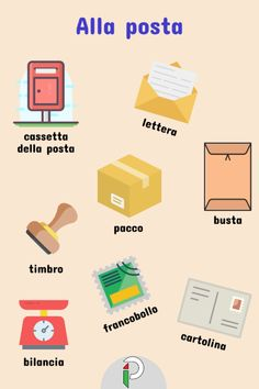 Cool Italian Words, Italian Lessons, Italian Language, Learning Italian, Post Office, Languages, Alcohol, Italy, Teaching