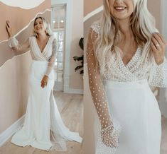 2020 Fashion Illusion Long Sleeves Wedding Dresses V Neck With Slit Satin Mermaid Court Train Cheap Wedding Dress Bridal Gowns Cheap Satin Mermaid Wedding Dresses Vintage Mermaid Wedding Dresses From Stunningdress88, $83.67| DHgate.Com Satin Mermaid Wedding Dress, Cheap Wedding Dress, Cheap Gowns, Vintage Mermaid, Long Sleeve Wedding, Illusion, Bridal Dresses, Vintage Dresses, Train