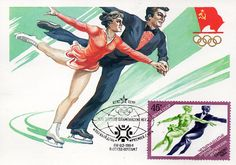 Figure Skating. Artist I. Filippov. Printed in the USSR, Moscow, 1984