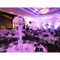 Beautiful #purple #colorwash at this glamorous #reception adds the perfect effect for the #liveband. Photo via #undertheoklahomasky