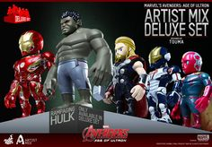 Details On Avengers: Age of Ultron Artist Mix Figures By TOUMA (Series 1)