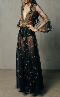 Cucculelli Shaheen Hera Constellation Dress ColorBlack