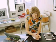 Take the Tour of Anna Wintour's Vogue Office: Find out 73 things you didn't know about the editor-in-chief and shop the look of her office. via @domainehome