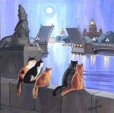 Любовь к кошкам глазами художницы Татьяны Родионовой - Ярмарка Мастеров - ручная работа, handmade