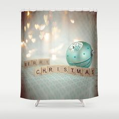 Caleb Troy Pastel Christmas Shower Curtain | Products | Pinterest ...