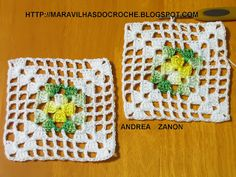 Finding Card Making Supplies For Your Craft Crochet Motifs, Crochet Blocks, Granny Square Crochet Pattern, Crochet Squares, Crochet Doilies, Crochet Flowers, Free Crochet, Crochet Patterns, Make Your Own Card