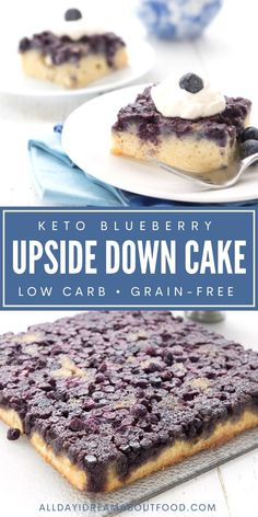 Keto upside down cake is fun, delicious, and easy to make. It's delicious for dessert, but it also makes a lovely brunch too. Fun Baking Recipes, Keto Recipes, Cake Recipes, Dessert Recipes, Dessert Ideas, Ketogenic Desserts, Low Carb Desserts, Ketogenic Meals, Healthy Carbs