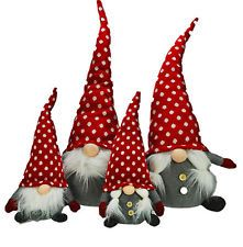 Chubby Santa Gnome Christmas Sitting Large and Small Bundle