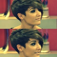 assymetrical pixie cuts | Frankie Sandford Short Hair Pixie Pixie Cut Asymmetrical