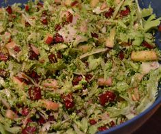 Garlicky Broccoli Slaw with beets, apples, and almonds!
