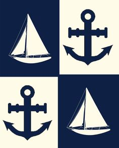 ⚓Anchors + Sailoboats