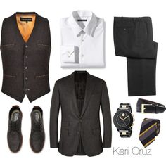 The Dapper Gent by keri-cruz on Polyvore featuring Theory, Movado, HOLLAND ESQUIRE, Lanvin and Brooks Brothers