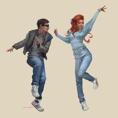 Scott and Jean by @merkymerx