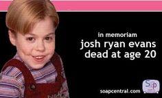 RIP Josh Ryan Evans Josh Ryan Evans, Passions Soap Opera, White Crane, In Loving Memory, Soaps, All About Time, Romantic, Memories, Tv