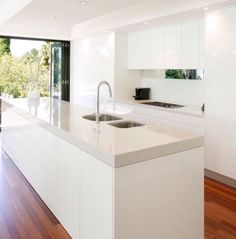 Mirror and glass splashback
