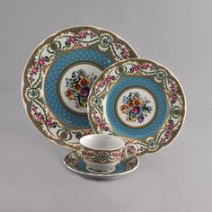 Blue Sevres Collection www.tablescapes.com - beautiful vintage look!