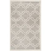 Found it at Wayfair - Amherst Light Grey & Ivory Outdoor Area Rug
