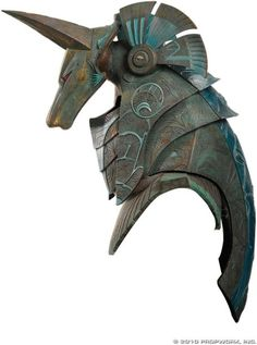 Anubis helmet of the type which was worn by Ra's First Prime in the Stargate feature film. Even though this helmet does not make an appearance in Stargate it is unclear if this was made for the movie. Costume Armour, Anubis Costume, Arte Robot, Armadura Medieval, Fantasy Armor, 3d Prints, Weapons, Concept Art, Steampunk