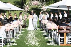 Like the way they did the rose petals down the aisle {Phoebe Photography}