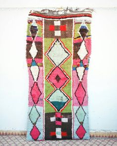 Carpet azilal cotton pink by FineMoroccanRugs on Etsy