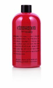 Philosophy Cinnamon Hot Toddy Shower Gel, 16 Ounces by Philosophy. $33.95. Leaves skin and hair feeling ultra soft. Multitasking, 3-in-1 formula. Cheerful blend of cinnamon stick, apple, and spices. Toast to a season of good cheer with cinnamon hot toddy shampoo, shower gel and bubble bath. The moisturizing formula provides a rich, foaming lather to gently cleanse and condition, leaving skin and hair feeling ultra soft. Our cinnamon hot toddy scent is a cheerful b...