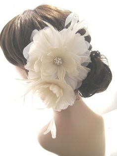 feather hair piece - I want.