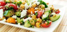 Heerlijk lichte salade. De combinatie van ingrediënten maakt het een fris gerecht waar je van wilt blijven eten. Zowel koud als lauwwarm te serveren.