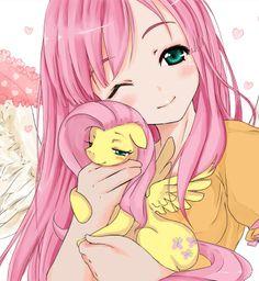 My Little Pony, Fluttershy, by d-tomoyo