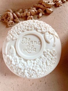 Perhaps the prettiest of all soaps, Blanc Lilas at Pure Home Couture...