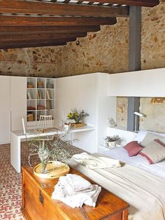 Renovated home with charming rustic interiors in Girona, Spain Design Your Home, Home Interior Design, House Design, Interior Sketch, Decoration Inspiration, Interior Inspiration, Stone Wall Design, Italian Home, Classic Interior