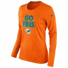 Miami Dolphins Nike Ladies Go Fins Long Sleeve T-Shirt