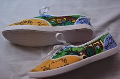 Lord of the Rings Handpainted Shoes by LittleRedKite on Etsy
