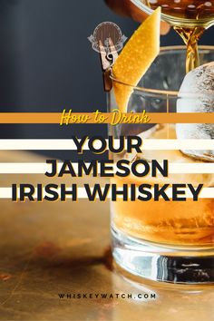 Jameson Irish whiskey is one of the perfect whiskeys you can combine with plenty of other ingredients in order to make something new to drink, but right now, I want to tell you how to drink Jameson the right way, so you can release all the notes this whiskey is famous for! #whiskeywatch #jamesonirishwhiskey #jamesonwhiskeydrinks #jamesonandginger #jamesoncocktails #simplejamesondrinks #irishjamesondrinks #jamesoncocktailsrecipes #jamesonwhiskeydrinkseasy #jamesonwhiskeydrinksfall