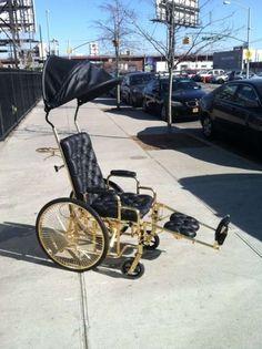 Mordekai Makes an Exclusive 24-Carat Gold Lady Gaga Wheelchair #ladygaga #popculture trendhunter.com