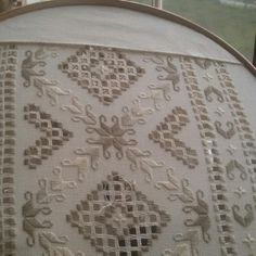 No automatic alt text available. Hardanger Embroidery, Embroidery Stitches, Embroidery Patterns, Creative Embroidery, Types Of Embroidery, Labor, Satin Stitch, Bargello, Hand Quilting