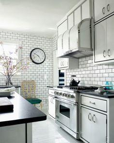 37 Schöne Weiße Küchenfliesen. Weiße Küche Mit U Bahn Fliese Schwarze Fugen