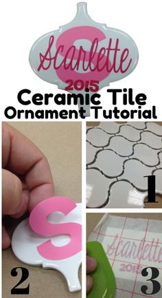 Here is an awesome tutorial on how to use your Silhouette Cameo to put vinyl on a piece of ceramic tile for Christmas!