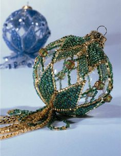 Ornament Cover  Y308 Bead PATTERN ONLY Beaded Simply Smashing Ornament Cover Pattern - Beads & Jewelry Making $13.45