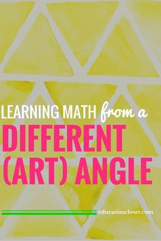 Learning Math from a Different (Art) Angle | educationcloset.com