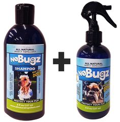 Nobugz All Natural Handmade Dog Shampoo BUNDLE WITH All Natural Handmade Dog Insect Repellent – DEET FREE, 100% Guaranteed to Repel Fleas, Ticks, Mosquitoes, Pesky Insects - 8oz Made in USA * Click image for more details. (This is an affiliate link and I receive a commission for the sales)