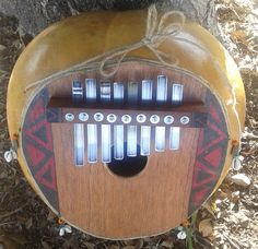 """Guinean-style bass """"thumb piano"""" (gongoma)      FREE DOMESTIC SHIPPING by PanAfricanArts on Etsy"""