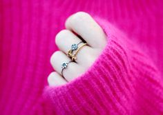 Blogpost from clamour4glamour.looklab.dk with fan of tattoo gold plated ring, Lady Luck oxidized silver ring