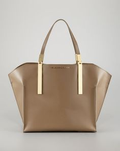 Small Shopper Tote Bag, Elephant by Zac Zac Posen at Neiman Marcus. $550. Sleek.