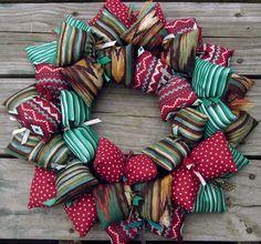 Aztec Themed Handmade Fabric Wreath | SooBoo - Housewares on ArtFire