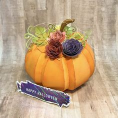 #svgcuts #cricutmaker #designspace #silhouettecameo #americancrafts #silhouettedesignstore #distressink Happy Halloween, American Crafts, Svg Cuts, Silhouette Cameo, Cricut, Pumpkin, Vegetables, Flowers, Projects
